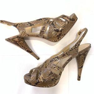 VALENTINO Python Leather Heels Sz 40